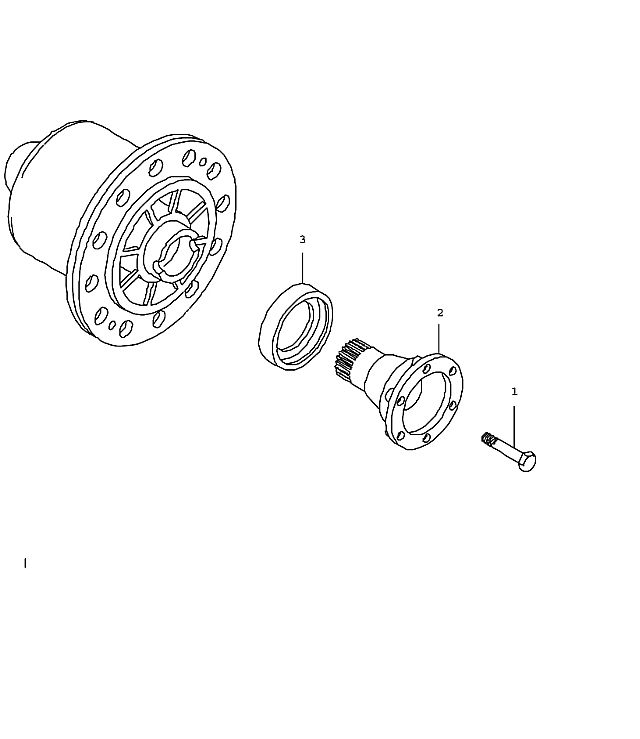 Porsche 911 Manual transmission differential g97.01 (305-00)