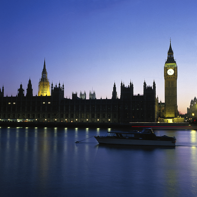 Westminster Abbey, Big Ben and Parliament, London, England