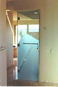 Zig Zag Three Hinge Glass to Glass and Towel Bar Handle