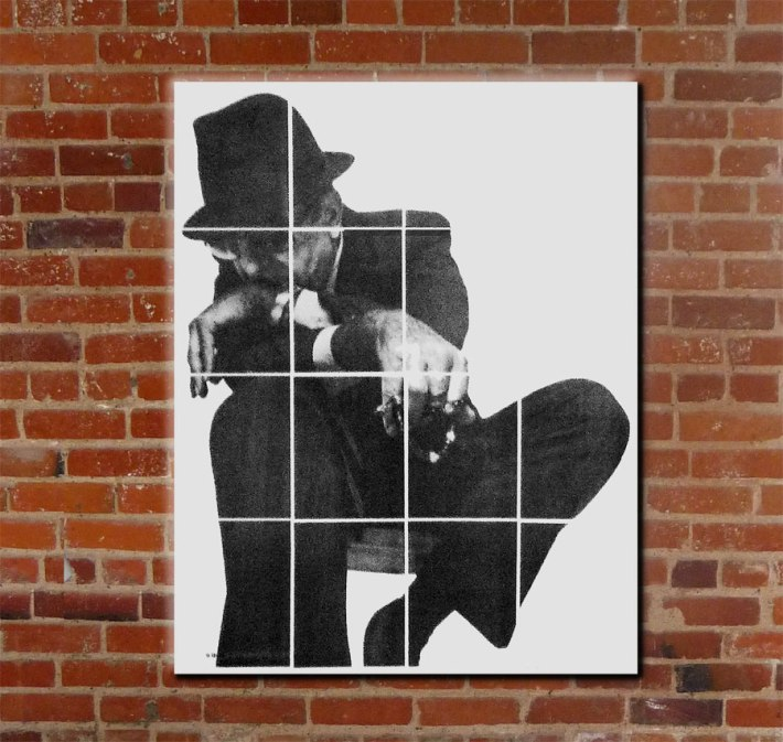Home-brewed Leonard Cohen graphic on DrHGuy's wall
