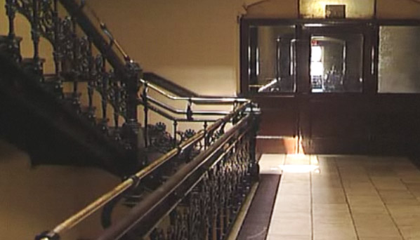 Chelsea Hotel interior (screen capture0