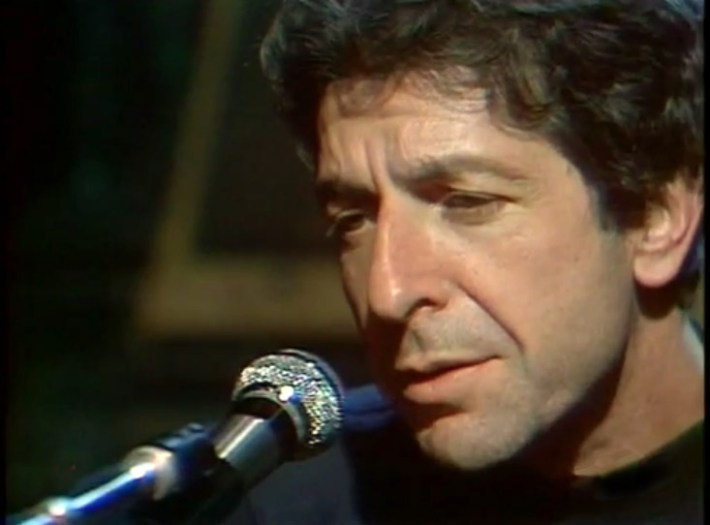 Leonard Cohen - screen capture from French TV