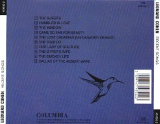 Recent Songs CD Back Cover