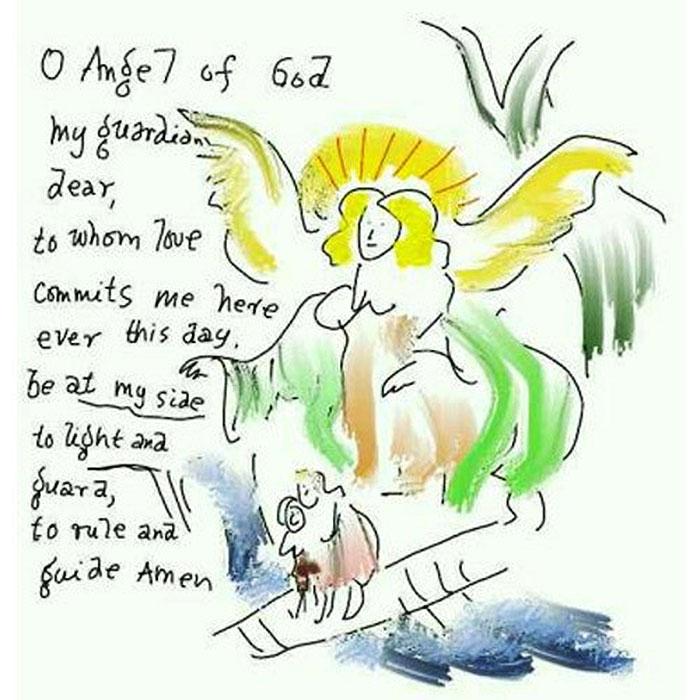 Art By Leonard Cohen: War Child Canada 2003 Christmas Card Drawing ...