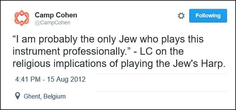 Leonard Cohen & The Jew\'s Harp - Cohencentric: Leonard Cohen Considered