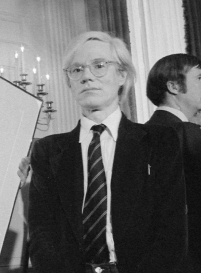 Jimmy_Carter_with_Andy_Warhol_during_a_reception_for_inaugural_portfolio_artists.,_06-14-1977_-_NARA_-_175147_(cropped)