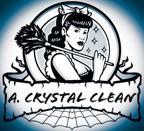 A crystal clean logo