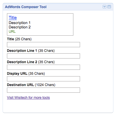 Adwords Widget