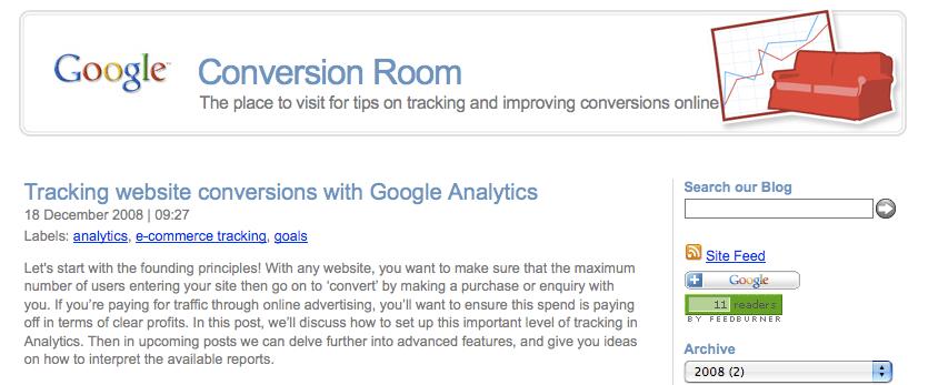 Google Conversion Room Blog