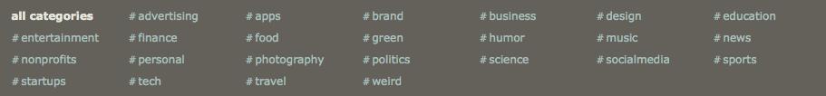 Shorty Award Categories