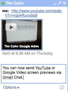 Gmail YouTube Video Chat