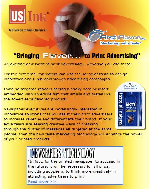Taste Marketing Technology