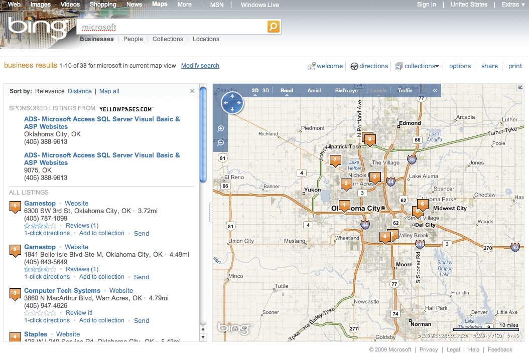 Bing Local Brand Search Microsoft