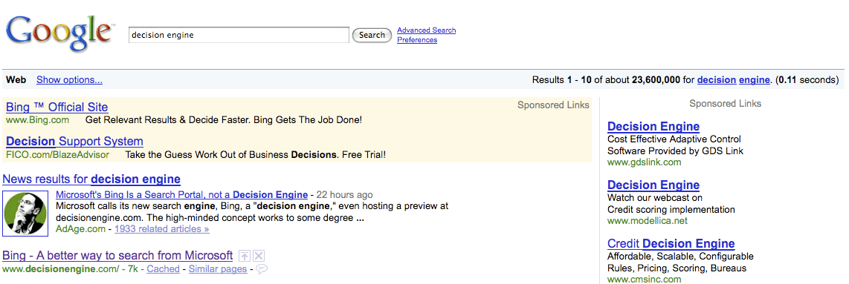 Decision Engine Ad