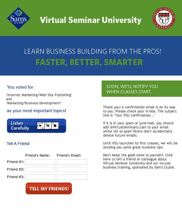 Virtual Seminar University Internet Marketing Business Development