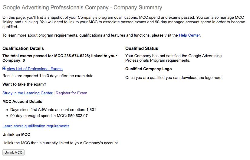 Qualified Status