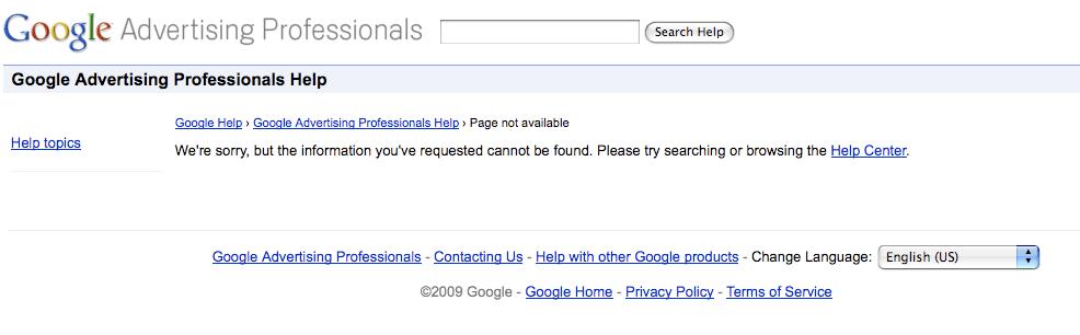 Google Advertising Professionals Help