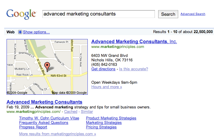 Google Local Listing Is This Accurate