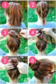 coiffure simple rapide pour