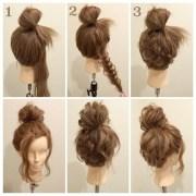 tutoriel coiffure chignon tress