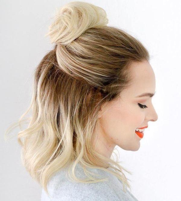Coiffure moderne femme cheveux mi long  Coiffure simple et facile