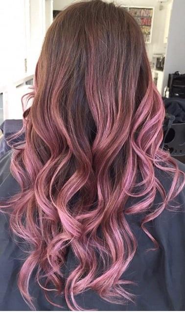 Streaks Brown Hair Light Red