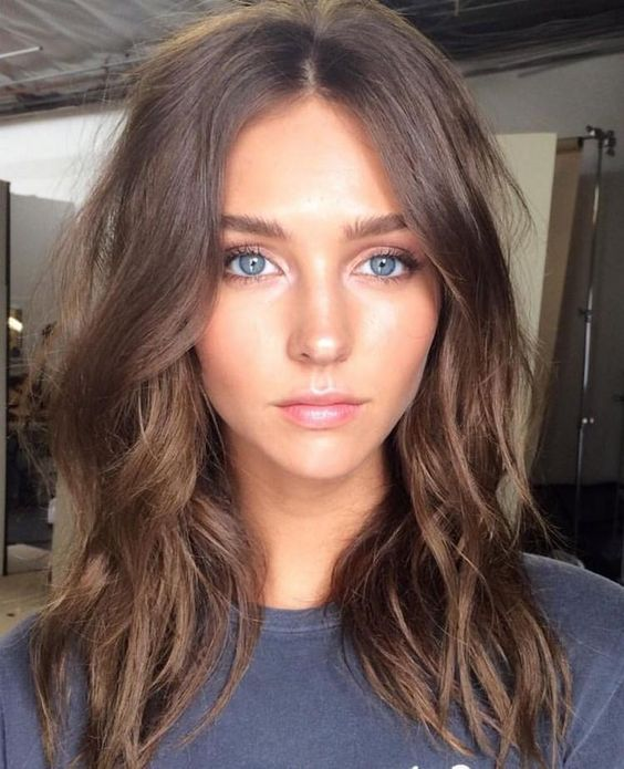 Long And Tumblr Brown Girls Eyes Hair Green