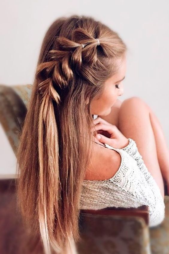 tresse cheveux mi long a faire soi mme  Coiffure simple et facile