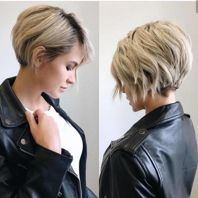 cheveux courts tendance 20182019  Coiffure simple et facile