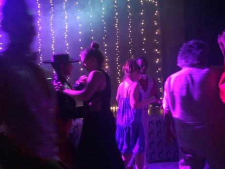 Dancing at the restaurant