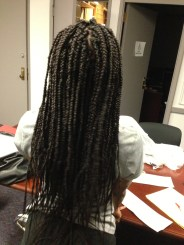 Finished braids before dipped in hot water