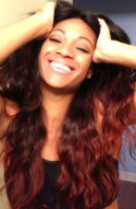 Brazilian natural wave | Red Ombre