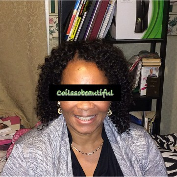 Peruvian curly short Invisible part wig