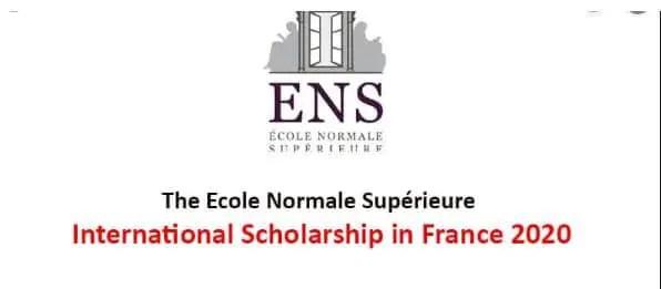 Bourse Pour Étudiants ÀENS International 2019 En France