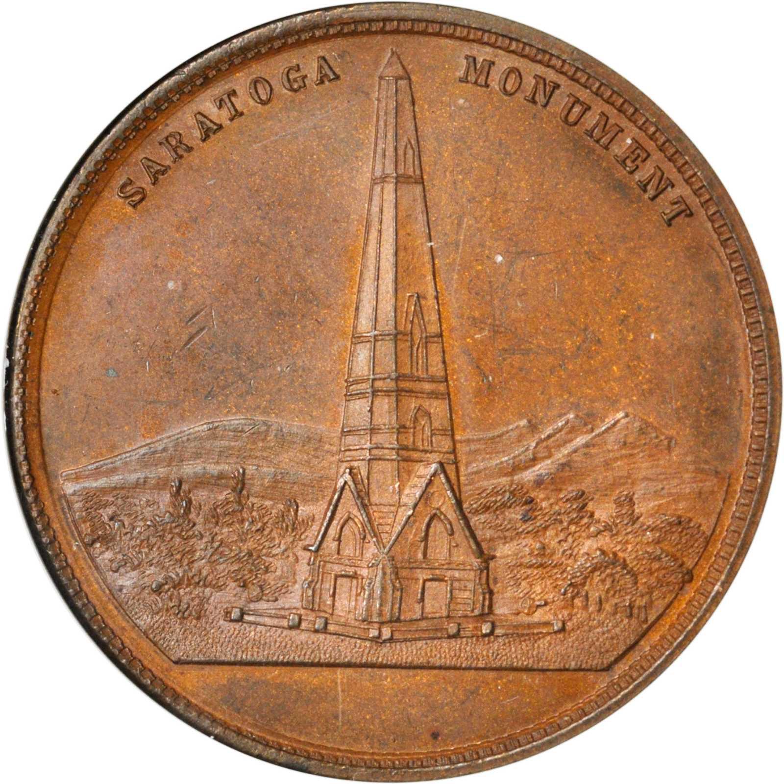 Bronze Undated Battle Of Saratoga Monument