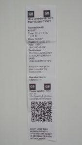 BATMThree redeem receipt