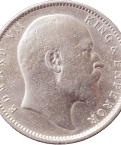 One Rupee India 1906 Edward Vii King Silver Coin