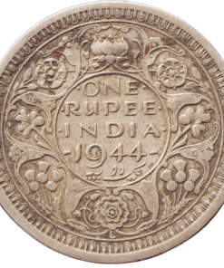 One Rupees India 1944 George Vi King Half Silver Coin