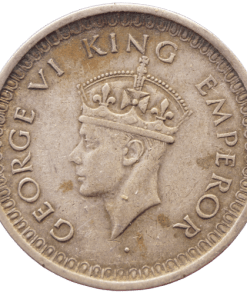 One Rupees India 1942 George Vi King Rare