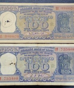 India 100 Rupees old Diamond Issue Two Different Governor L. K. Jha P. C. Bhatacharya Condition as Per Image #3