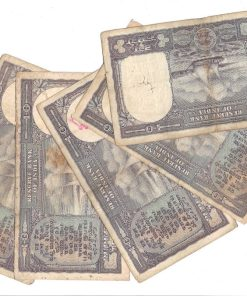 10 Rupee Fafda Issue Black Boat 5 Notes Collection **Singed By PC Bhattacharya** Same as Per Shown - Lowest Price Deal ❤ #5