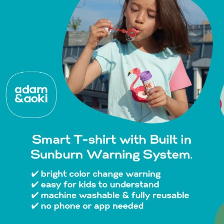 Innovation : un T-shirt qui vous avertit quand votre enfant va attraper un coup de soleil
