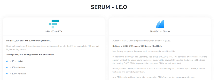 Serum Cryptocurrency IEO