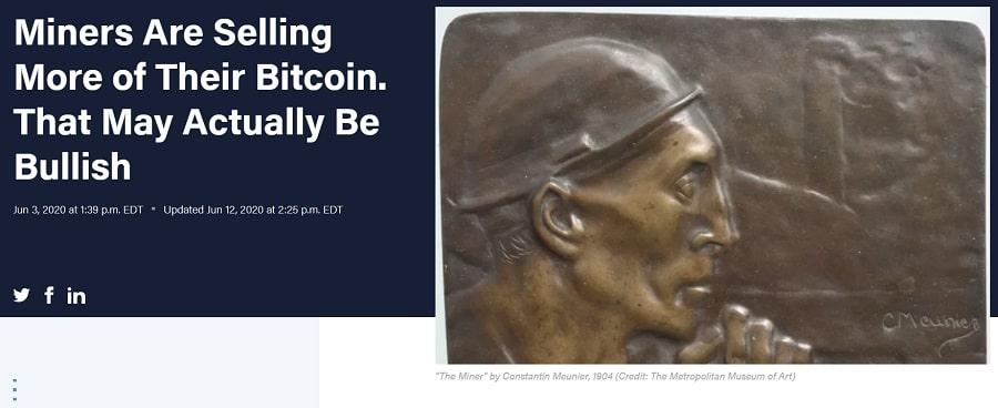 BitcoinMinersSelling