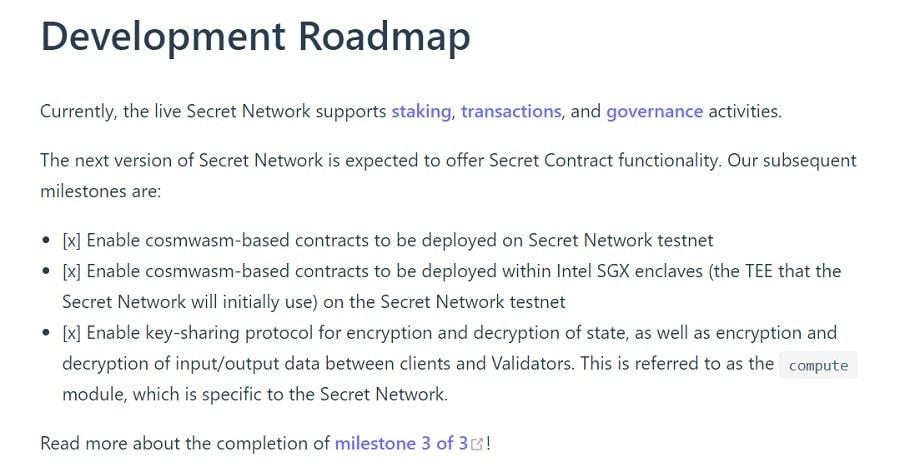 Secret Network Roadmap