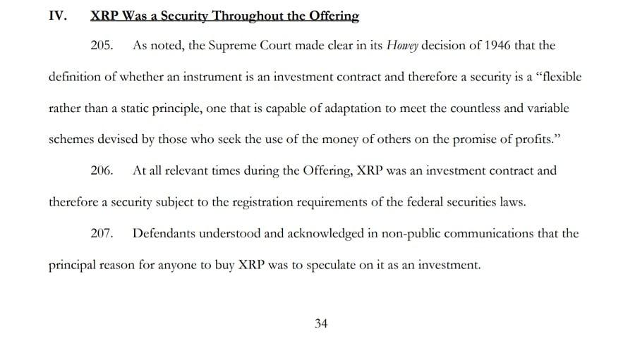 SEC XRP Security