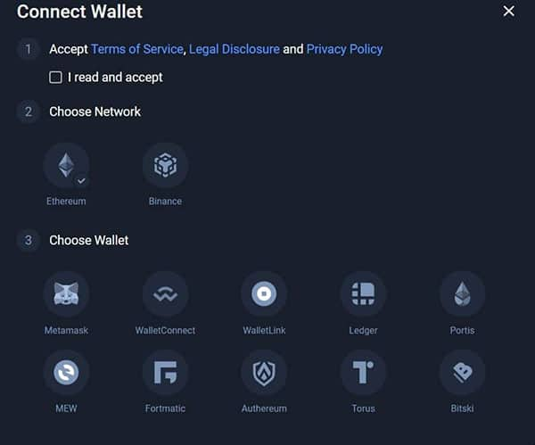 Connecting Wallet 1inch