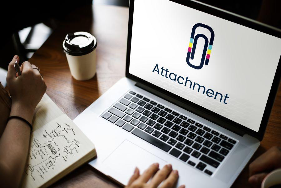Attachment on screen