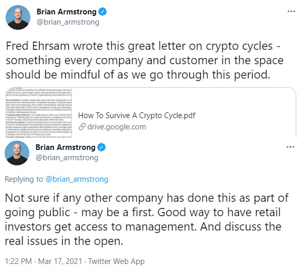 Brian Armstrong Tweets