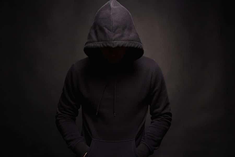 man in hood